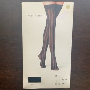 A New Day Thigh Highs Ebony/Black M/L